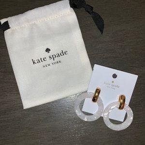 White slice of stone Kate Spade earrings